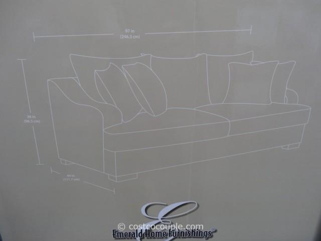 costco fabric reclining sofa platform emerald gianna