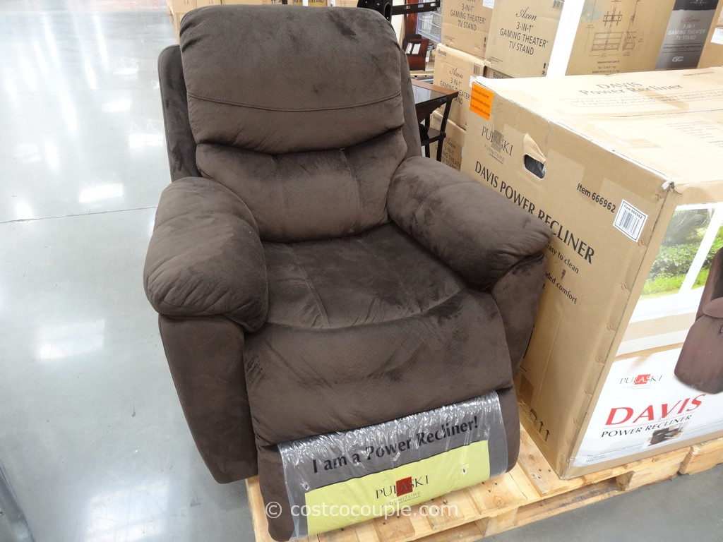 Costco Recliner Chair Pulaski Davis Fabric Power Recliner