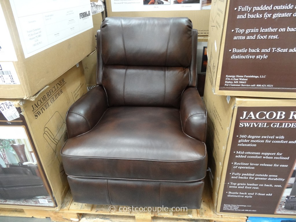 costco swivel chair cover hire poole dorset synergy jacob leather glider recliner