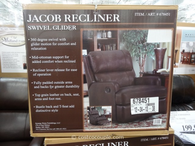 synergy recliner chair ikea kitchen jacob leather swivel glider