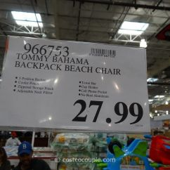 Costco Beach Chairs Swivel Chair Drawing Tommy Bahama Backpack