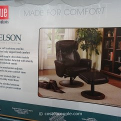 True Innovations Chair Costco Table Sashes And Covers Nelson Leather Recliner With Ottoman