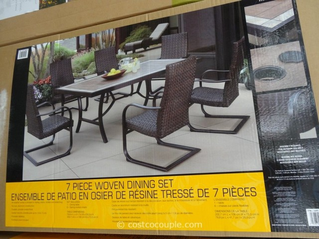 Agio International 7Piece Fairview Woven Dining Set