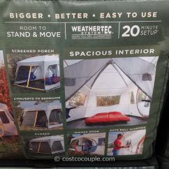 Sling Chair Outdoor Victorian Rail Coleman Weathermaster Ii 10 Person Screened Tent