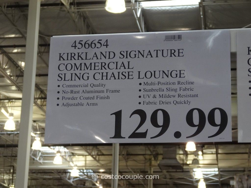 Kirkland Signature Commercial Sling Chaise Lounge