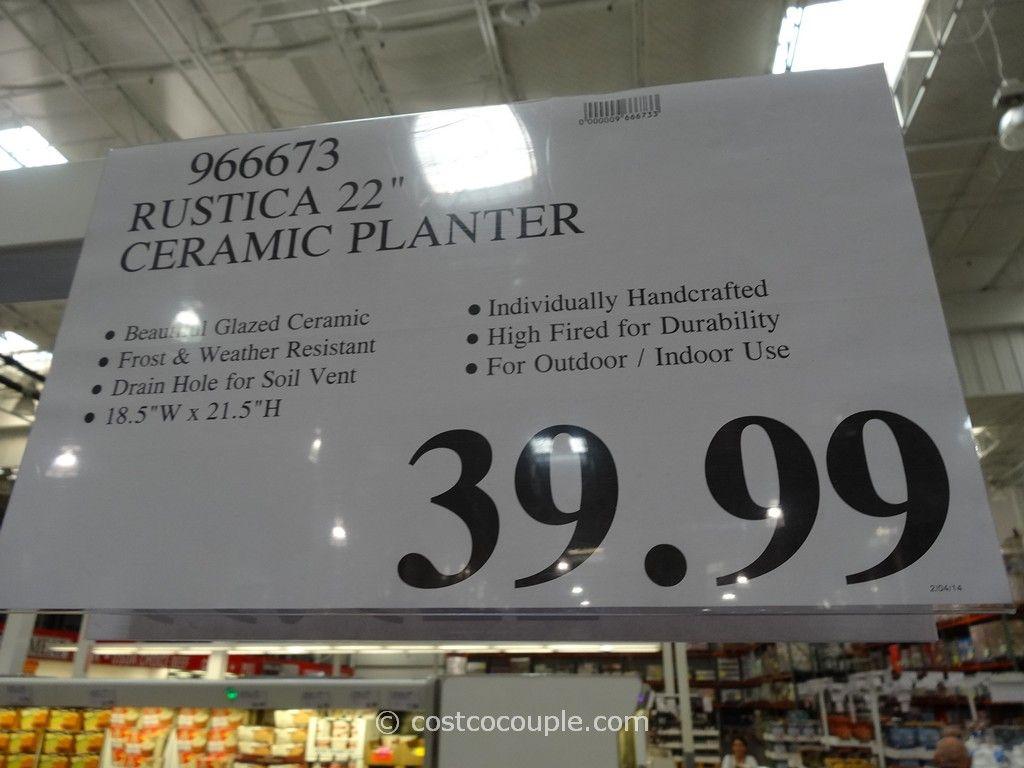 Rustica 22Inch Ceramic Planter