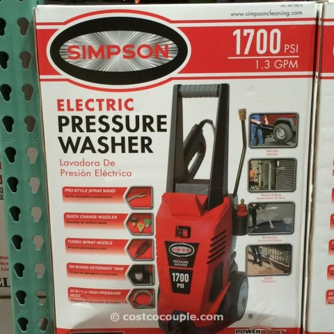 Simpson 1700 psi Electric Pressure Washer