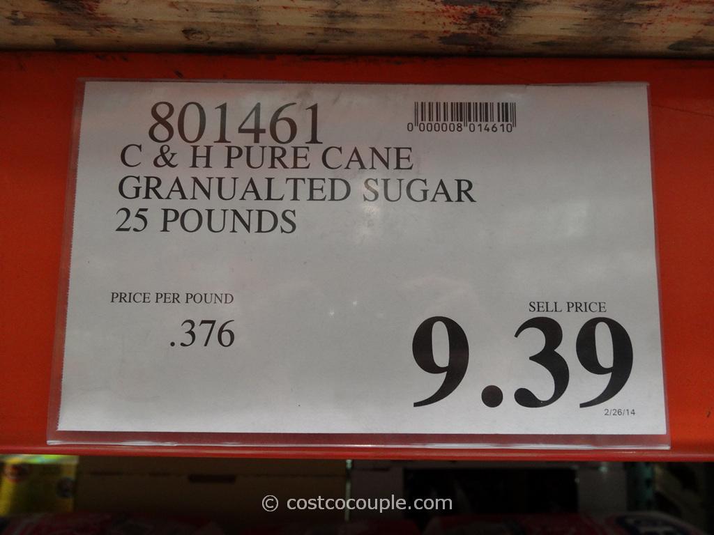 C  H Pure Cane Granulated Sugar 25  50 lbs