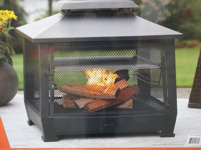 Outdoor Fireplace with Cooking Grate