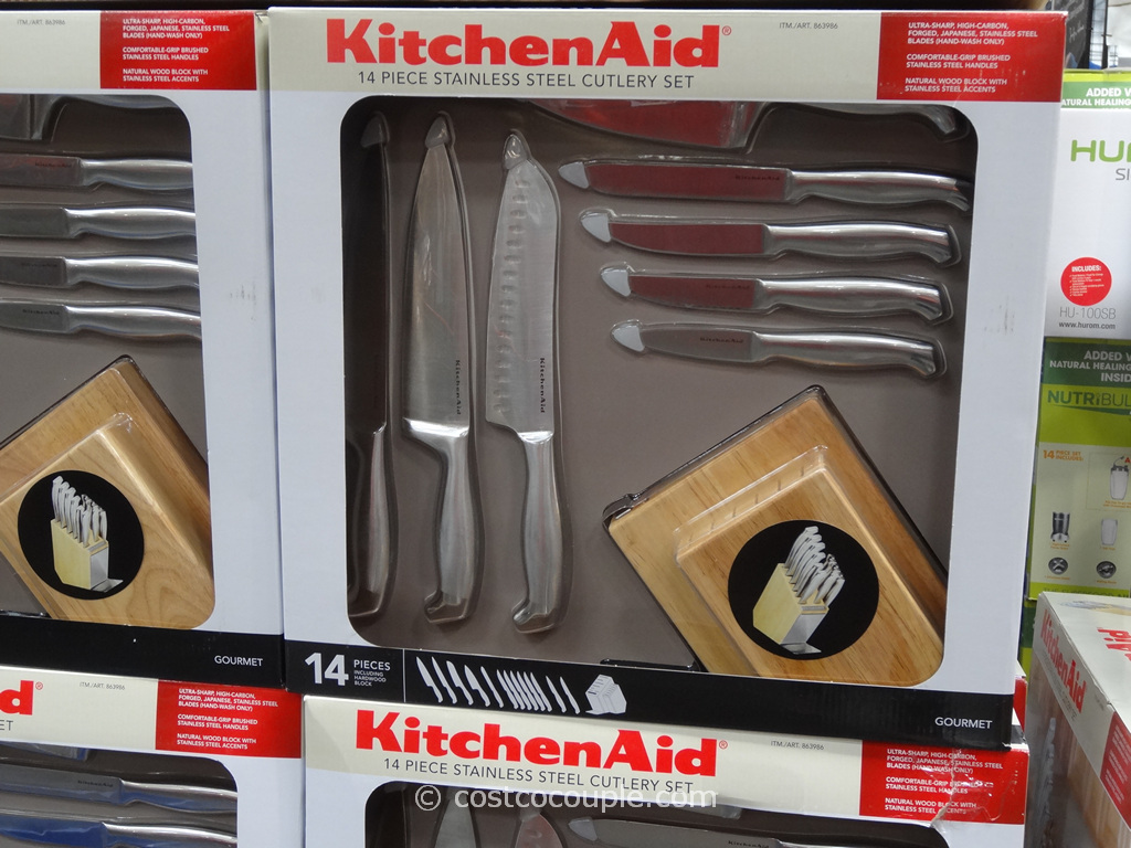 kitchen aid knives cabinets installation kitchenaid 14 piece cutlery set
