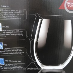 Folding Chair Costco Pads With Ties Chef And Sommelier Stemless Wine Glass Set