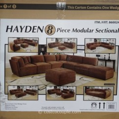 Hayden Sectional Sofa Costco Ikea Chaise Bed Marks And Cohen 8 Piece Modular Fabric 6