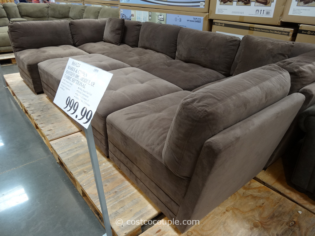 Marks and Cohen Hayden 8Piece Modular Fabric Sectional