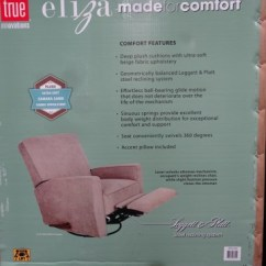 True Innovations Chair Costco Captains Workout Eliza Swivel Glider Recliner