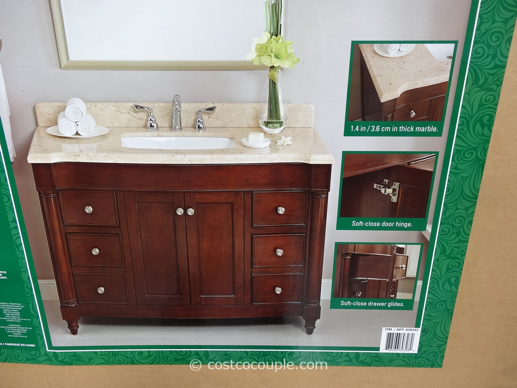 Lanza Products 48Inch Single Sink Wood Vanity