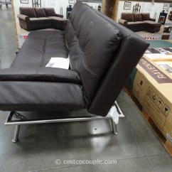Mckinley Leather Sofa Costco True Modern Euro Lounger Bed Black Futon Niles