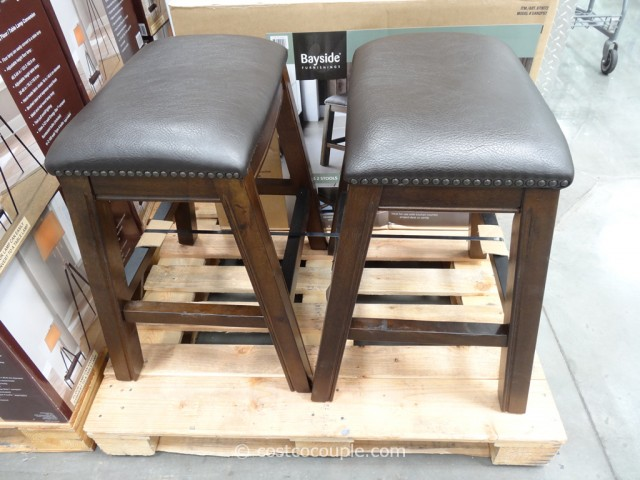 stool chair costco adirondack chairs amish bayside furnishings dana saddle barstools 4