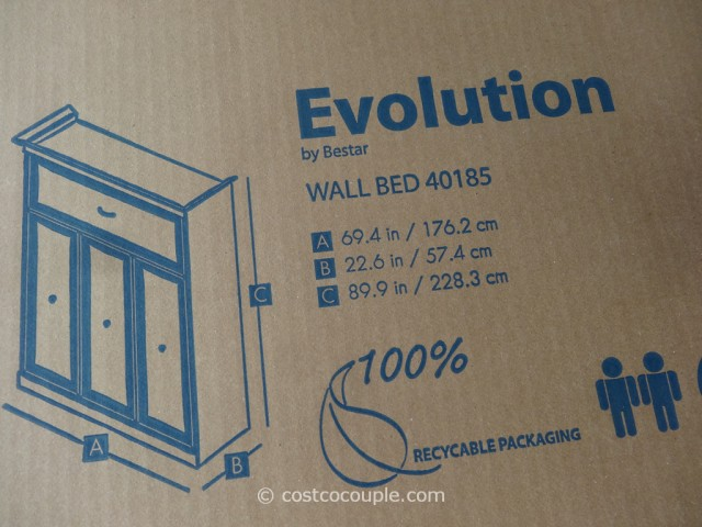 Bestar Evolution Queen Size Wall Bed