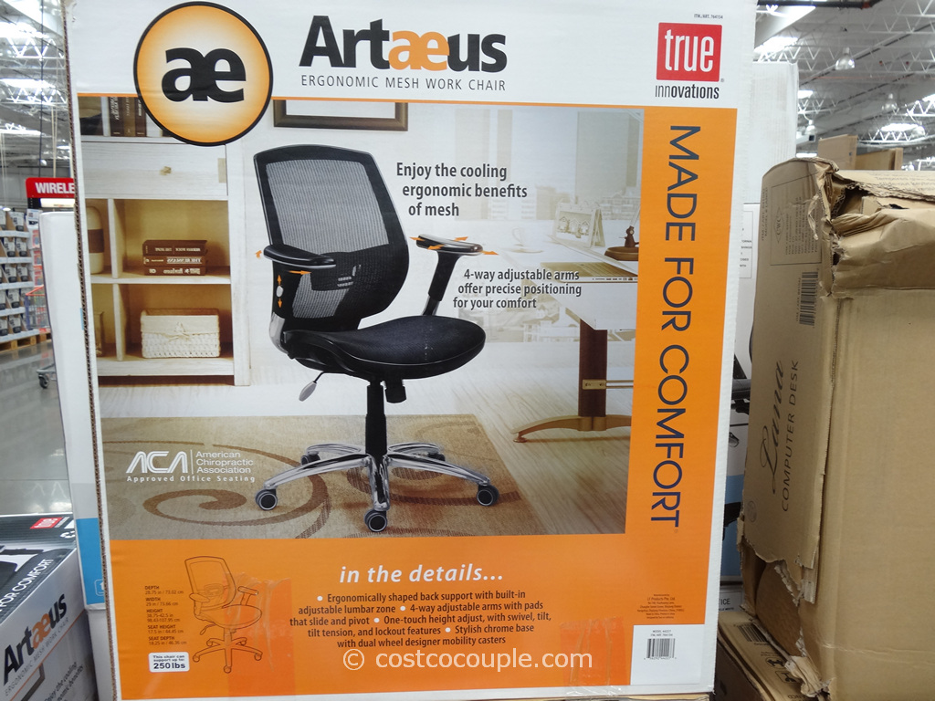 true innovations chair costco rubber foot protectors artaeus ergonomic mesh work