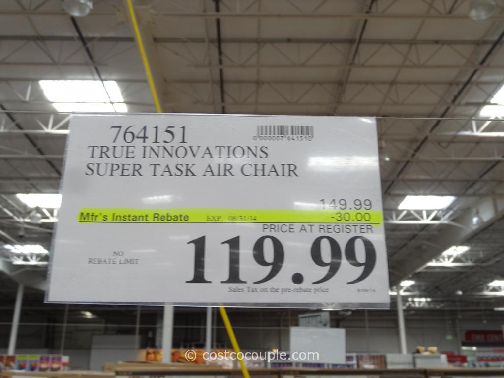 true innovations chair costco folding types super task air