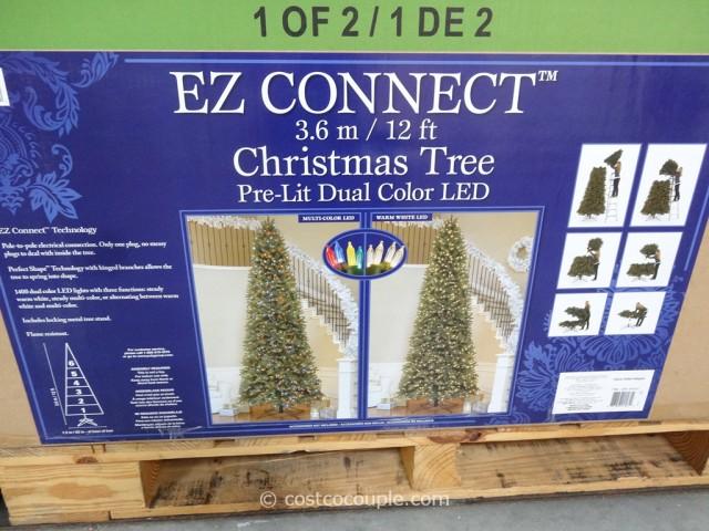 EZ Connect 12Ft Prelit LED Christmas Tree