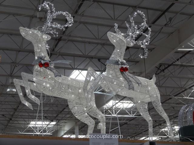 Sleigh With 2 Deer LED Set