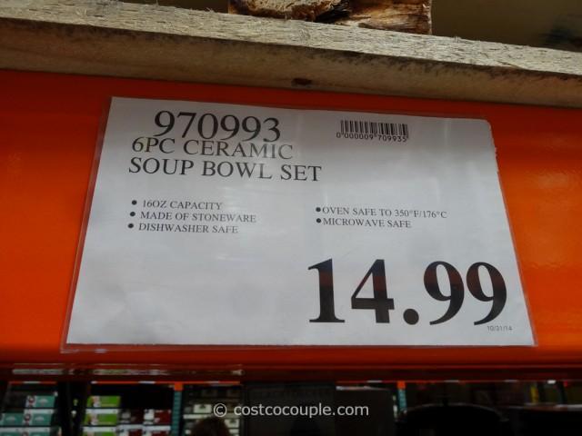 costco kitchen mat visualizer 6-piece ceramic soup bowl set
