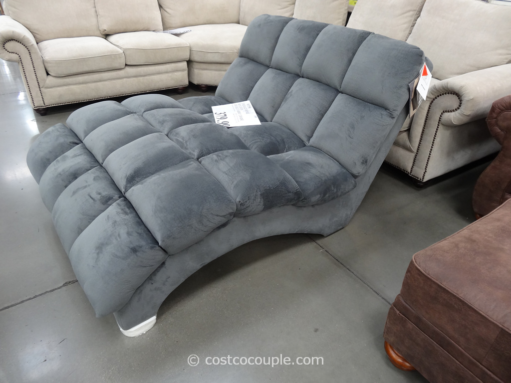 chaise sofa with ottoman costco sage green leather furniture and decor