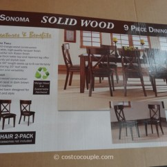 Costco Leather Chairs Flat Folding High Chair Heritage Brands Sonoma 9-piece Dining Set