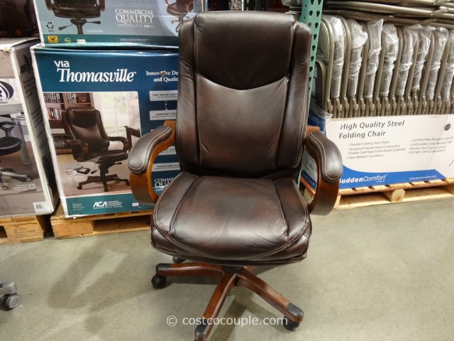 true innovations office chair steel vip executive brown leather