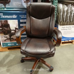 Costco Leather Chairs Single Chair Bed With Arms True Innovations Executive Brown 2