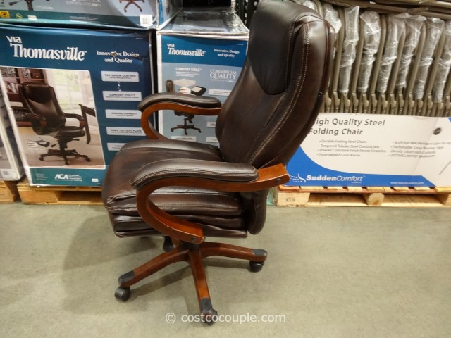 costco leather chairs brown for living room true innovations executive chair 3