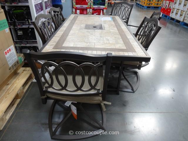 kirklands dining chairs telescope casual beach chair kirkland signature 7 piece alumicast set