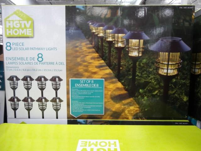 HGTV Large 8 Lumen Solar Pathway Lights