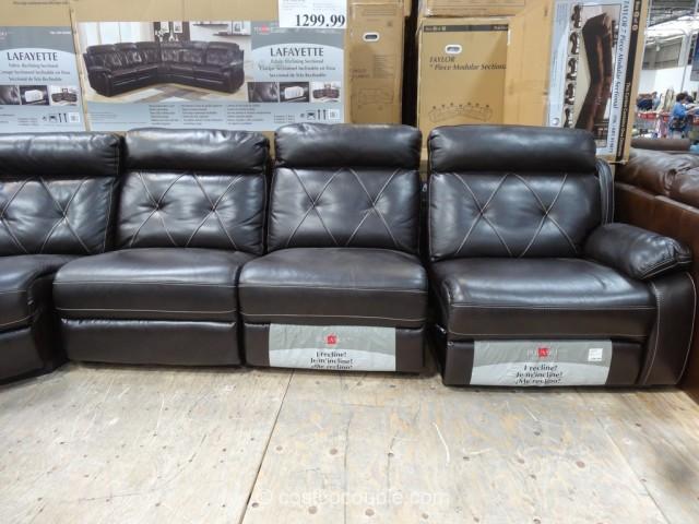 costco fabric reclining sofa michigan sofas pulaski lafayette motion sectional