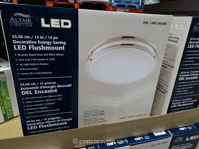 sleeper sofa black outdoor patio sofas altair lighting 14-inch flushmount led light fixture