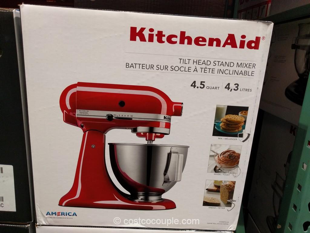 kitchen aid costco crocks kitchenaid 4 5 quart tilt head stand mixer