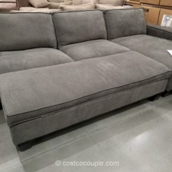 Chaise Sofa With Ottoman Costco Oxblood Red Chesterfield Fabric Storage