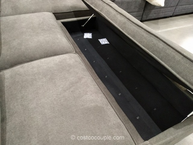 chaise sofa with ottoman costco sleeper queen mattress topper fabric storage 3