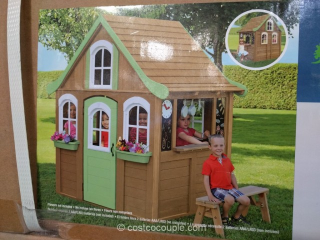 wooden bench for kitchen table wolf cabinets cedar summit storytime playhouse