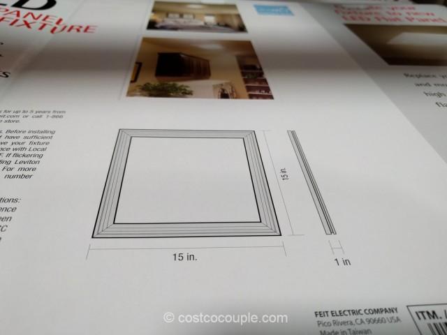 Feit Electric LED Flat Panel Light Fixture