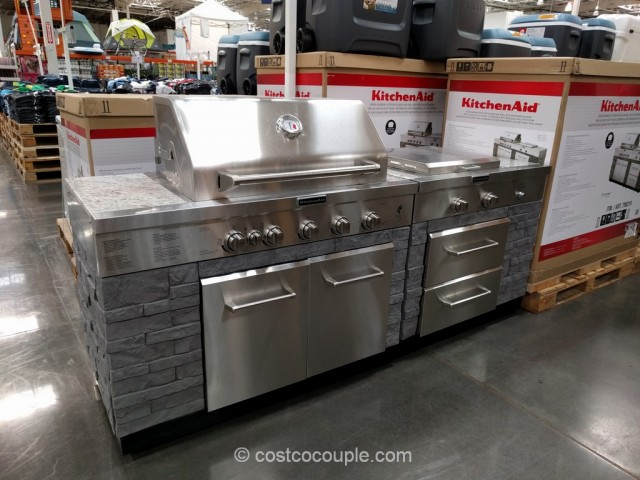 Kitchen Aid 7 Burner Outdoor Island Gas Grill