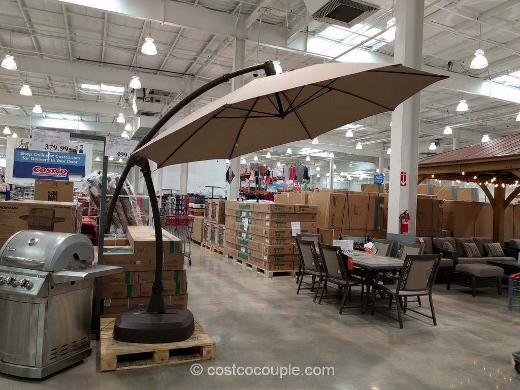 Patio Table Chairs Umbrella Set