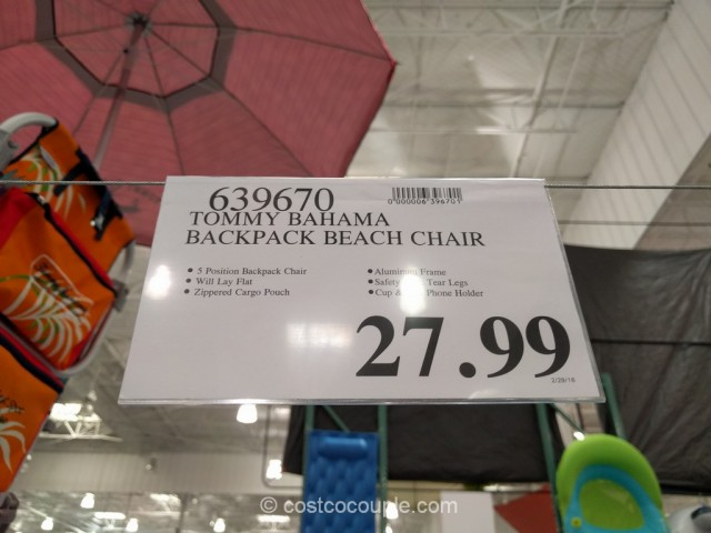 costco beach chairs electric chair heater tommy bahama backpack