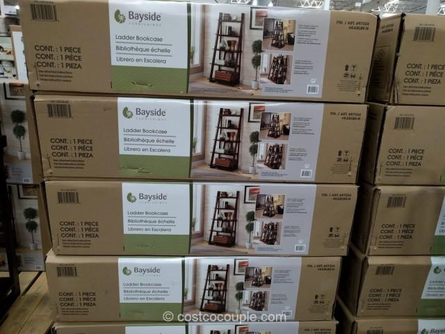 Bayside Furnishings Ladder Bookcase