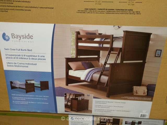 Bayside Furnishings Twin Over Full Bunkbed