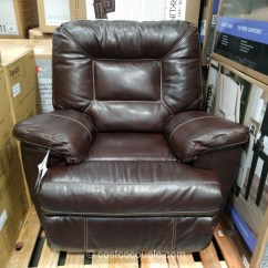 Costco Leather Chairs Wheeled Beach Chair Lounger Woodworth Easton Rocker Recliner