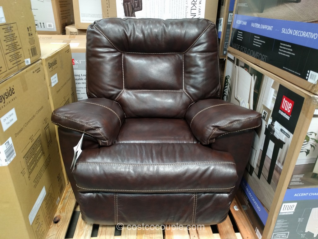 Costco Recliner Chair Woodworth Easton Leather Rocker Recliner