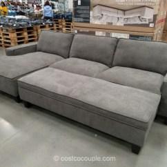 Chaise Sofa With Ottoman Costco Natuzzi Editions Sleeper Sofas Storage