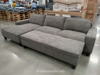 Chaise Sofa With Storage Alluring Sofa Sleeper With Chaise ...